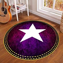Modern Non-Slip Machine Washable Round Area Rug Living Room Bedroom Bathroom Kitchen Soft Carpet Floor Mat Home Decor,Purp...