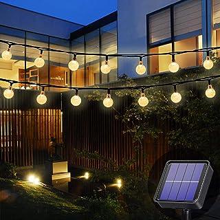 Solar Garden Lights Outdoor Waterproof, 50LED 7M/24Ft Solar Fairy Lights, Crystal Ball Lights with 8 Modes, Decorative Lig...