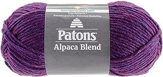Patons  Alpaca Blend Yarn - (5) Bulky Gauge  - 3.5oz -  Ultraviolet -  Machine Washable  For Crochet, Knitting & Crafting