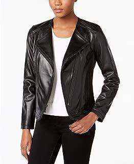 MICHAEL Michael Kors Women's Black Leather Jacket (S)