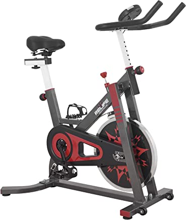 RELIFE REBUILD YOUR LIFE Spin Exercise Bike Cycling Bike Indoor Cardio Workout Machine Belt Drive Home Gym