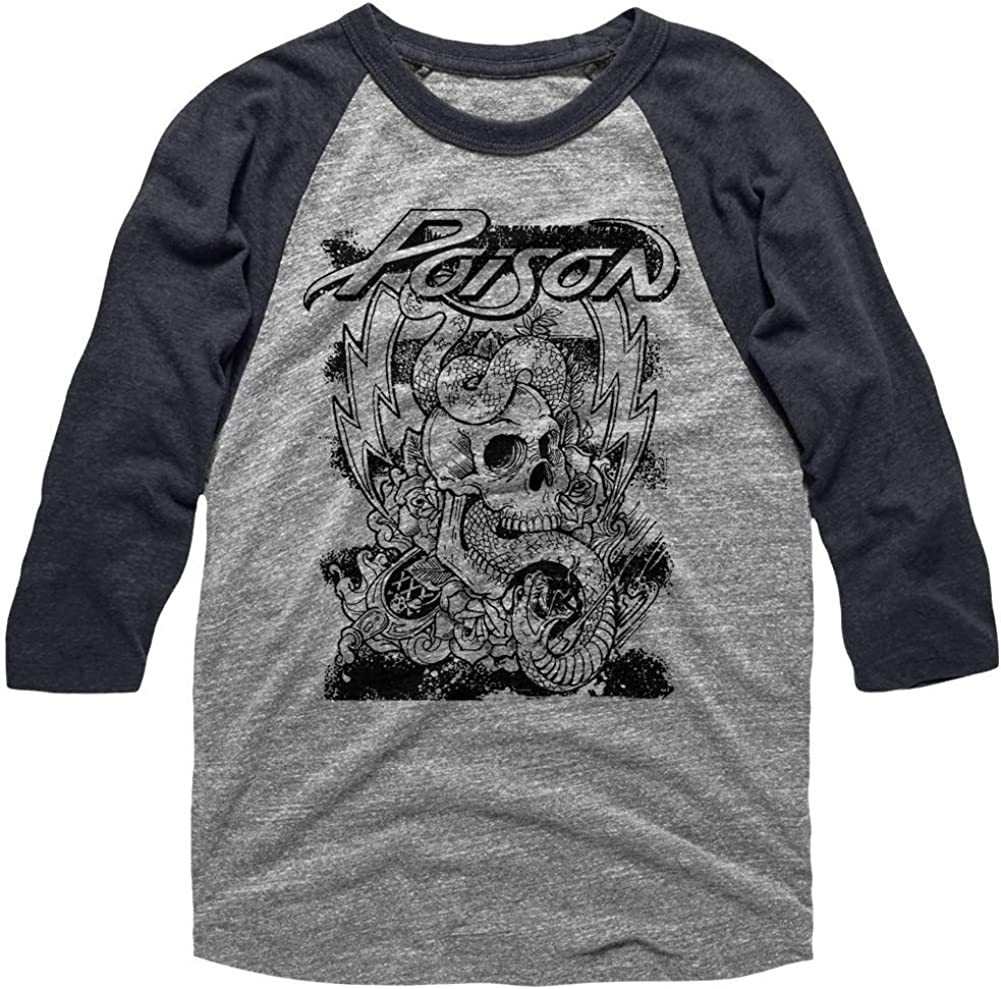 Poison Music Skull Snake Lightning Adult 2021 spring and Japan Maker New summer new Sleeve 3 4 Raglan Shirt