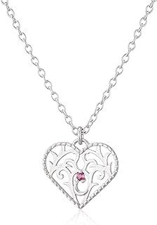 【Amazon.co.jp 限定】[JEWELOUS] JEWELOUS 银色玫瑰石项链(10月)粉红碧玺 NR13838PT