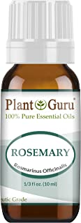 Rosemary Essential Oil 10 ml. 100% Pure Undiluted Therapeutic Grade for Aromatherapy Diffuser, Stimulates Hair Growth and Dandruff Control.
