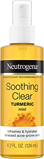 Neutrogena Soothing Clear Calming Facial Mist Spray with Turmeric, Hydrating and Refreshing Facial Mist for Acne Prone Ski...