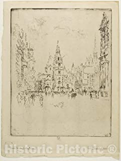 Historic Pictoric Print : St. Clements Danes, Joseph Pennell, c.1643, Vintage Wall Decor : 36in x 48in