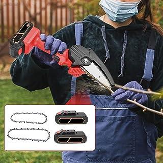 Kacsoo Mini motorsåg sladdlös elektrisk motorsåg 21 V uppladdningsbart batteri bärbar elektrisk såg professionell sladdlös...