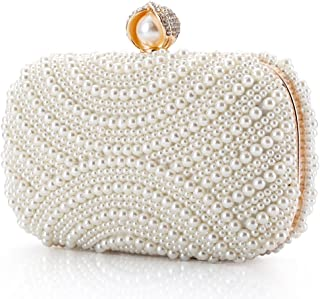6620b7b21fb Womens Clutch Luxury Evening Bags Full Beaded Artificial Pearls Handbag for  Wedding Parites Prom