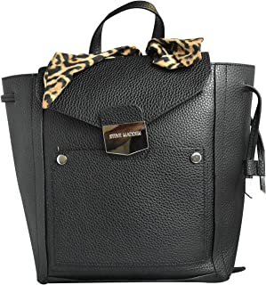 Steve Madden Women's Quilted Convertible Faux Leather Backpack - Black