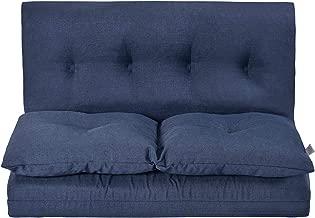 Merax Floor Gaming Sofa Chair Fabric Folding Chaise Lounge, 28