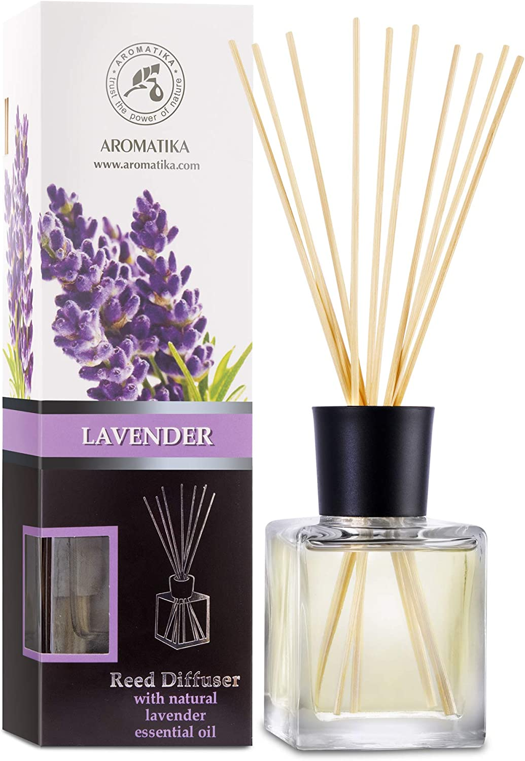 Reed Limited time sale Philadelphia Mall Diffuser with Natural Essential Oil Lavender Scent 6.8 - oz