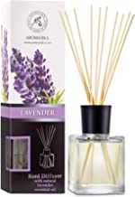 Reed Diffuser with Natural Essential Oil Lavender 200ml - Scented Reed Diffuser - Non Alcohol - Gift Set with Bamboo Stick...