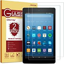 [2-Pack] OMOTON Screen Protector for All-New Fire HD 8 (2018/2017/2016 Release), Tempered..