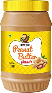Dr Vegan Peanut Butter | Made with Roasted Peanuts, Rich in Proteins | Crunchy | 1 KG |