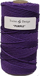 Twine by Design #36 100% 3-Strand Twisted Rosary Twine (Purple)