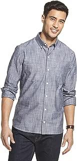 Van Heusen Men's Slim Fit Never Tuck Long Sleeve Button Down Solid Shirt
