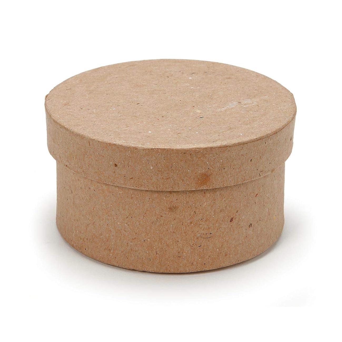 Bulk Buy: Darice DIY Crafts Paper Mache Mini Box Round 3 in (3-Pack) 2807-20