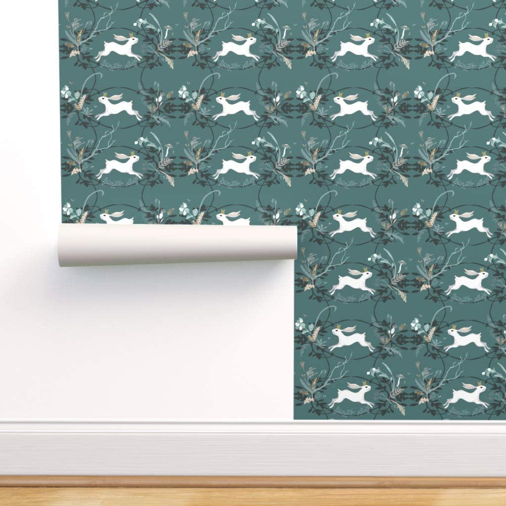 latest Super intense SALE Removable Water-Activated Wallpaper - Whimsical Animal Woodland