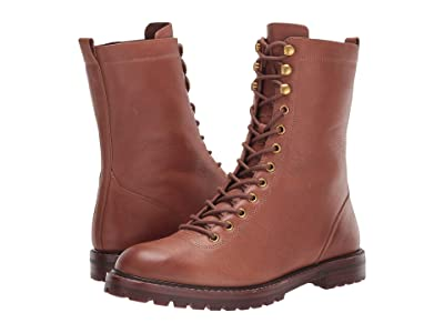 J.Crew Leather Lace-Up Micah Boot (Burnished Brown) Women
