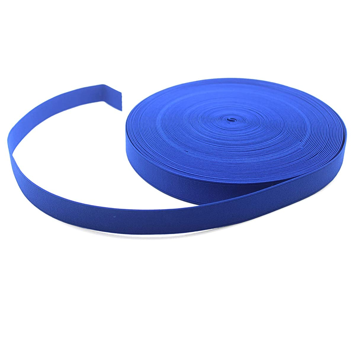 Yzsfirm 1 Inch High Elastic Band,30 Yards Elastic Spool Knit Bands Blue Braided Band for Sewing and Hair Wigs with Heavy Stretch