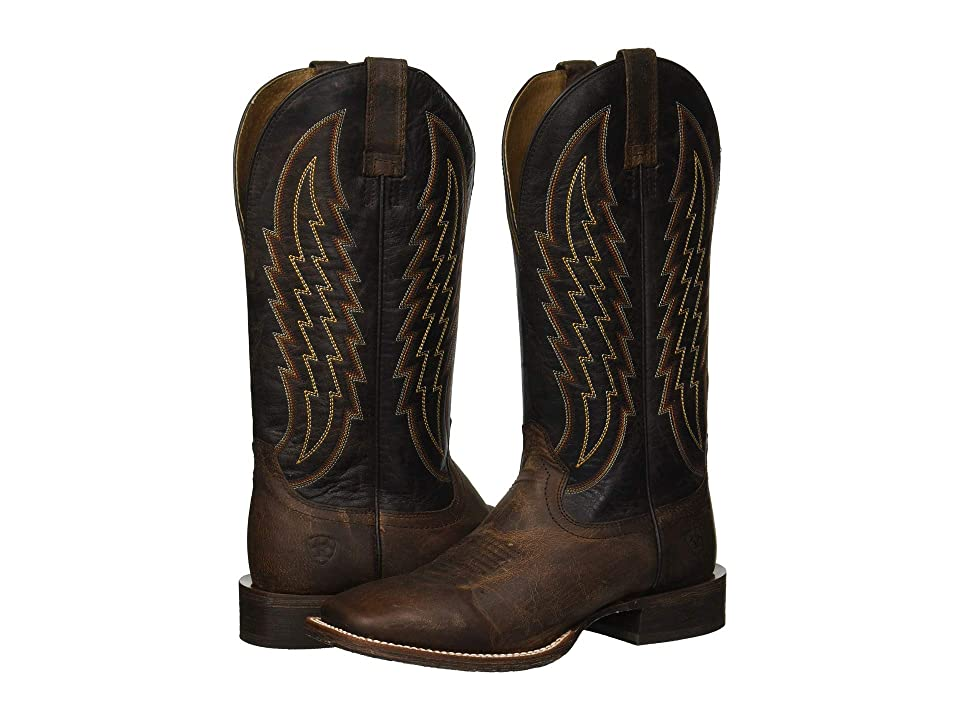 Ariat Circuit Stride (Weathered Tan/Gunfire Gray) Cowboy Boots