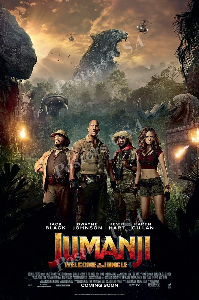 Posters USA Be super welcome Jumanji Welcome to the FI GLOSSY Poster Movie Luxury goods Jungle