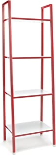 4-Shelf Ladder Bookcase - Modern Free Standing Bookshelf,/White ()