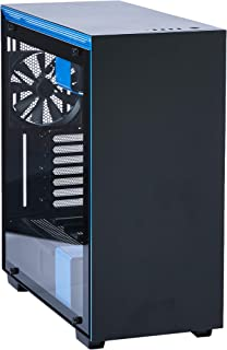 NZXT H700i - Caja PC Gaming de tamaño mediano ATX - Dispositivo inteligente con tecnología CAM - Panel de vidrio templado - Negro/Azul - Versión 2018