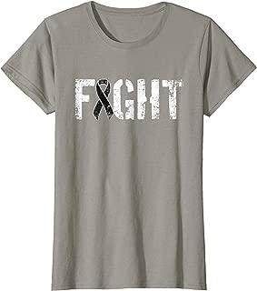 Womens Fight Melanoma Skin Cancer Shirt - Awareness Ribbon Tee