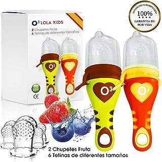 O³ Chupete Fruta - 2 Unidades con 6 Tetinas De Diferentes