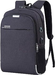 REBKW Mochila antirrobo USB para negocios, de gran capacidad, para hombres y mujeres, mochila escolar, bolsa de viaje, bolsa de viaje (negro 2, China)