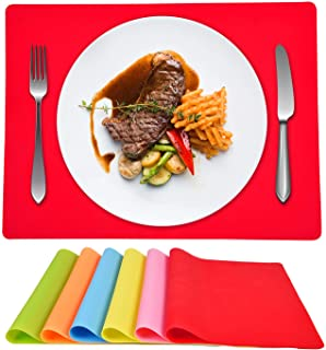 ASPMIZ Silicone Placemats Set of 6, Placemats for Dining...