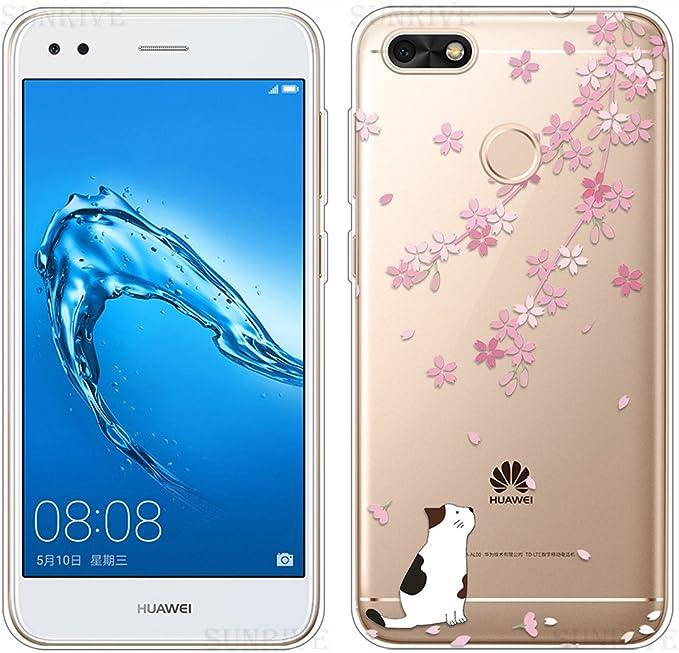 Sunrive Cover per Huawei Y6 PRO 2017 / P9 Lite Mini, Custodia Case in Molle Trasparente TPU Silicone Morbida Flessibile Pelle AntiGraffio ...