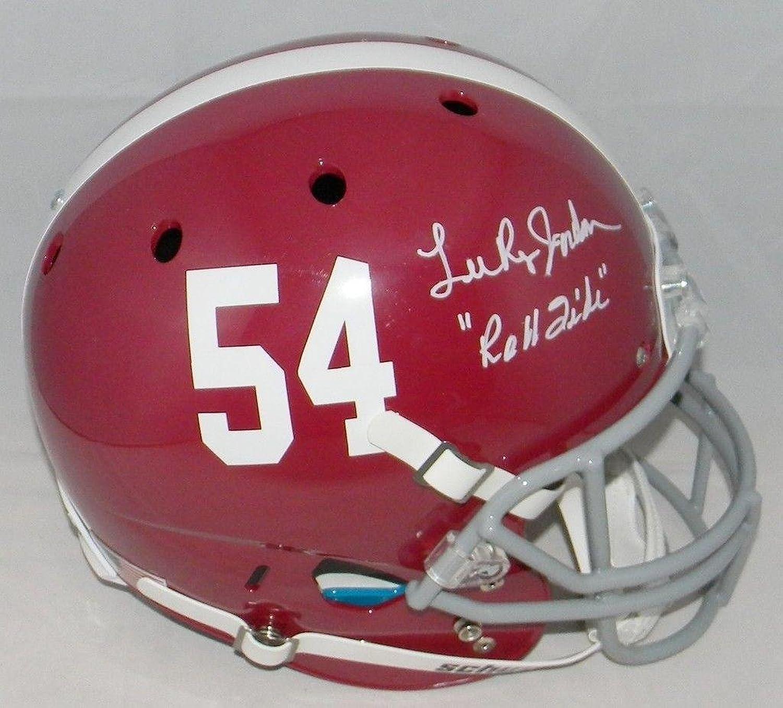 Autographed Lee Roy Jordan Helmet  Full Size Coa  Autographed College Helmets