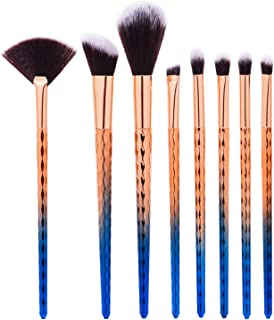 CINIDY 8 pcs Professional Makeup Brushes Sets Premium Synthetic Cosmetic Tool Make up Brushes Water Ripple Handle Brush Ki...