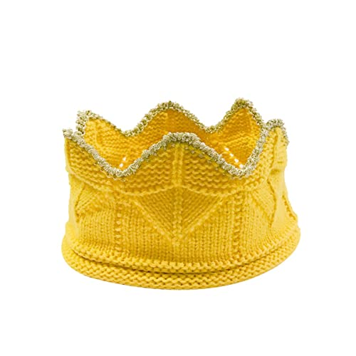 Wrapables Baby Boy   Girl Birthday Party Crochet Knit Crown Hat with Gold  Trim 6a3e824cff6d