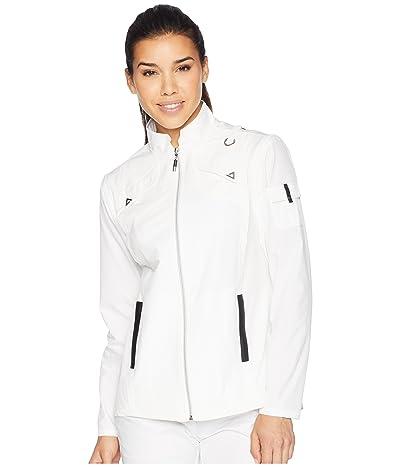 Jamie Sadock Airwear(r) Lightweight Jacket with Zip Off Sleeves (Sugar White) Women