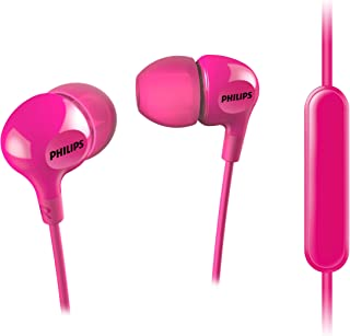 Philips Big Bass In Ear Headphones with Mic - Pink (SHE3555PK/27)