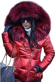 HRSD Mujer Abrigo Nieve Invierno Cálido Nieve Chaquetas Espesó Cubierta Invierno Abajo Abrigo Cálida Plumaschaqueta Plumón...