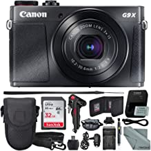 Canon PowerShot G9 X Mark II Digital Camera (Black) W/ 32GB SD Card, and Basic Accessory Bundle
