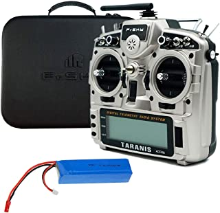 FrSky Taranis X9D Plus 2019 Access ACCST 2.4G 24CH Radio Transmitter-Silver (with LiPo Battery and EVA Case)