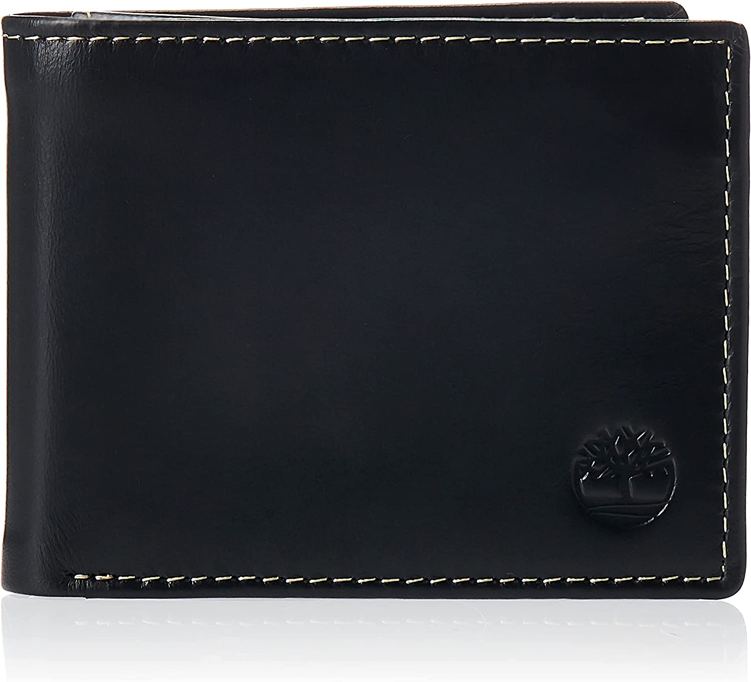 Timberland Men's Leather Wallet with Attached Flip Pocket
