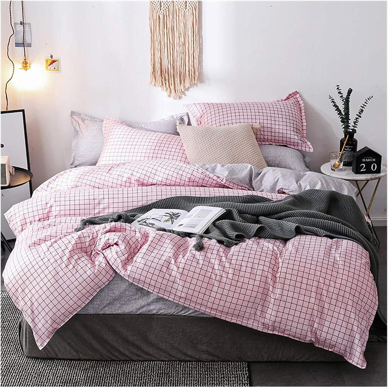 Pink Plaid Duvet Cover Set Twin Girls Bedding Set for Kids Teens 3 Piece Duvet Comforter Cover Set Lightweight Hotel Luxury Bedding Collection