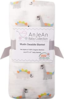 """AnJeAn Baby Organic Muslin 100% Bamboo Swaddle Blanket 