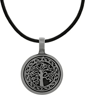 Aokarry Mens Stainless Steel Necklace The Tree of Life Retro Pendant Necklace for Men Silver 18-26