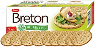 Dare Breton Gluten Free Crackers, Herb and Garlic, 4.76 oz Box (Pack of 6) – Healthy Gluten Free Snacks with No Artificial...