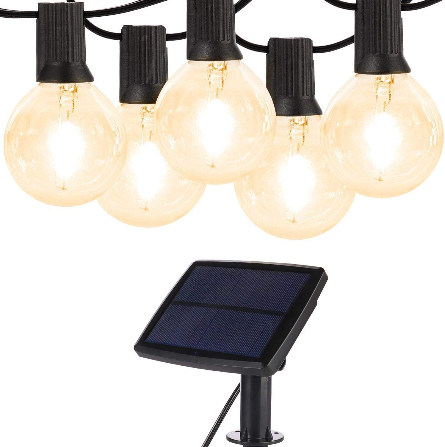 TOPCHANCES 18Ft Solar 訳あり品送料無料 Powered String Lights G40 10 Led with Pack 最安値