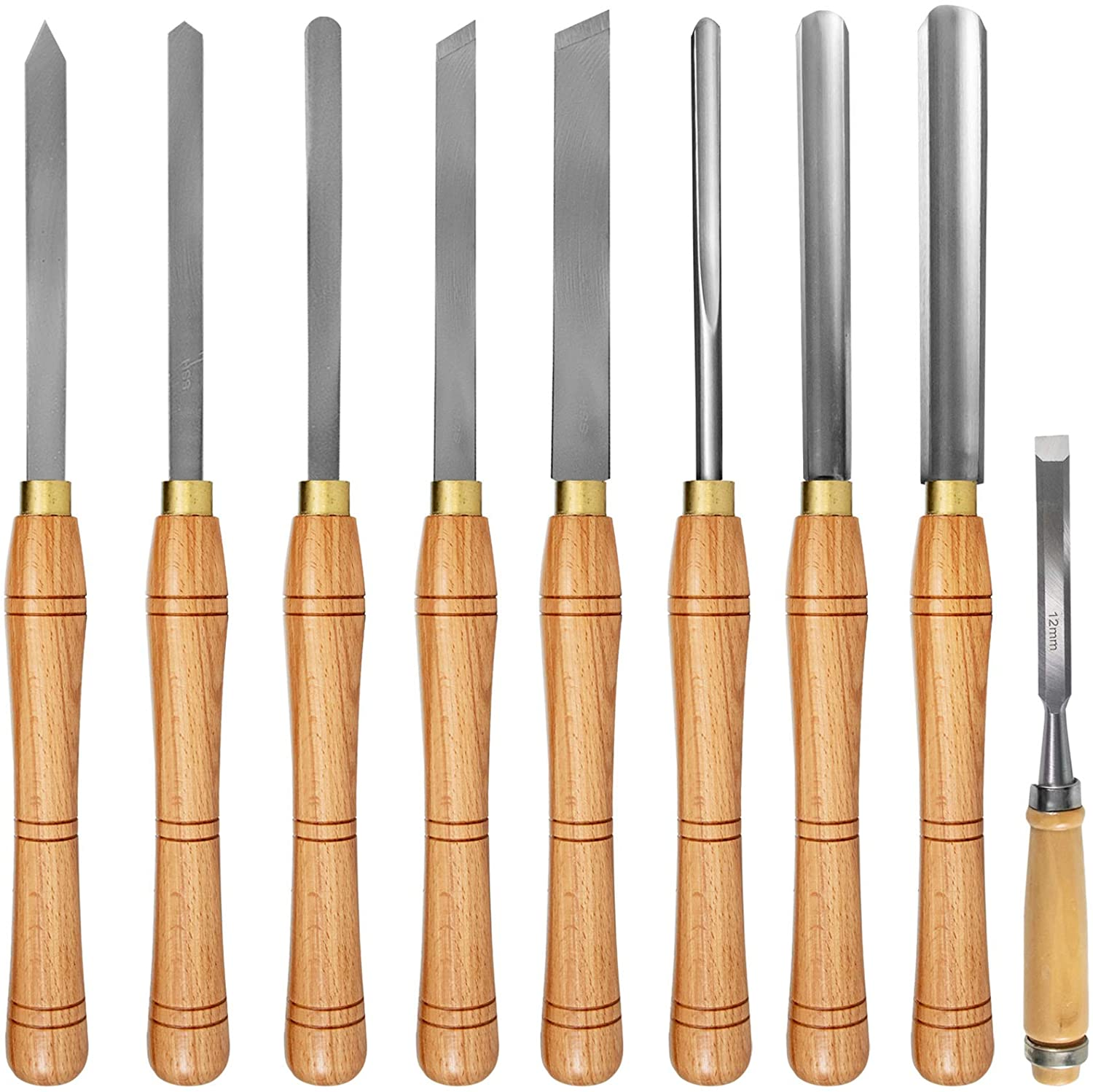 Mophorn Woodworking 8 Pcs Cuttin Max 71% OFF Wood Cash special price Chisel Lathe