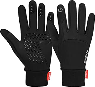 Winter Warm Gloves, Touchscreen Gloves Cold Weather Cycling Gloves Windproof Winter Sports Gloves for Running, Biking, Driving, Climbing, Hiking - Men & Women