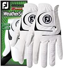دستکش گلف WeatherJas Men's FootJoy Men، Pack of 2 (White)